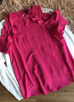 Розовая блуза с рюшами(s)