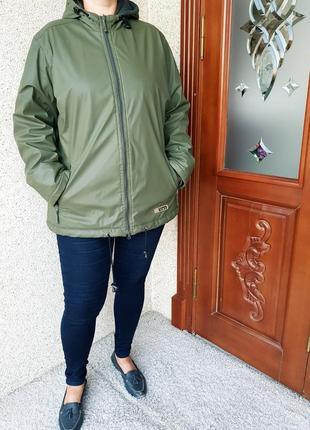 Резиновая отепленная куртка дождевик