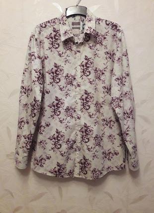 Стильная рубашка, 48-50, хлопок, jeff banks