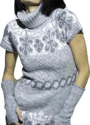 Трикотажная туника с митенками sewel
