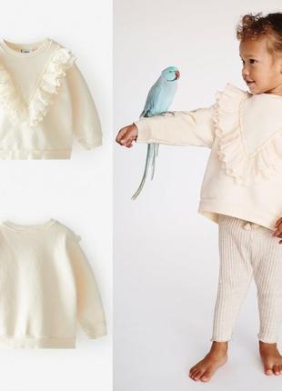 Детский нарядный свитшот на девочку фирмы zara