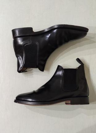Pierre cardin мужские кожаные демисезонные ботинки челси