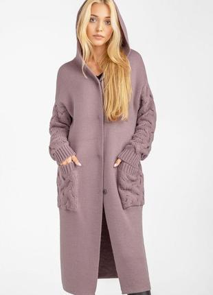 Длинное трикотажное пальто