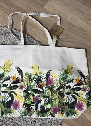 Текстильная большая сумка clarins, новая!