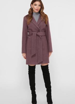 Виноградное стильное молодежное пальто