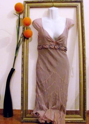Шёлковое вечернее (коктейльное) платье karen millen