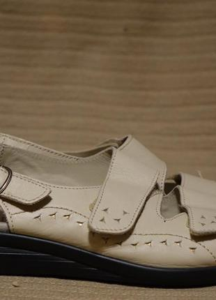 Комфортные легкие кожаные босоножки со съемной стелькой hotter 6 1/2 р.