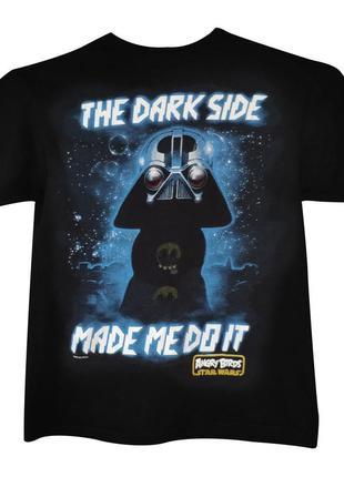 Футболка angry birds / звездные войны, the dark side made me do it