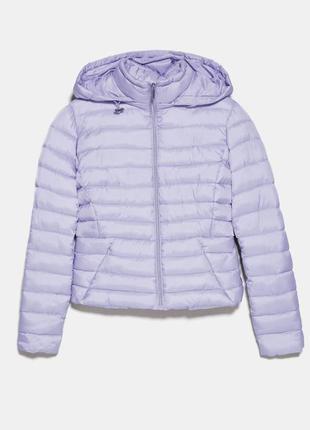 Куртка курточка лиловая фиолетовая сиреневая стёганая zara