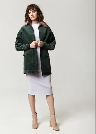 Вельветовая куртка оверсайз oversize