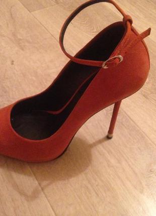 Туфли натуральные рыжие