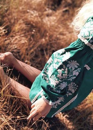 Дизайнерская вышиванка 😍 платье-вышиванка для девочки 9-10 лет