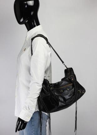 Кожаная сумка на плечо