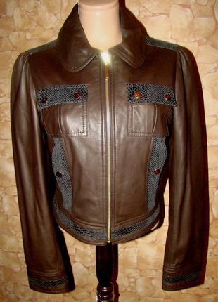 Очень стильная, модная куртка,косуха из натуральной кожи наппа