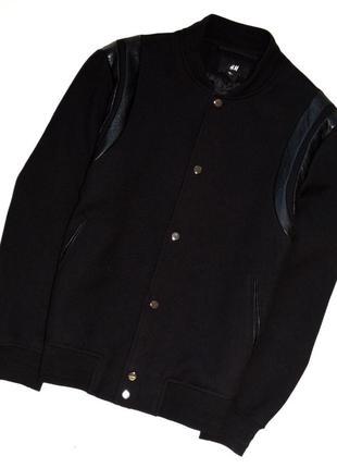 H&m. отличная куртка-бомбер с вставками из кожзама. хл - 2хл. 44