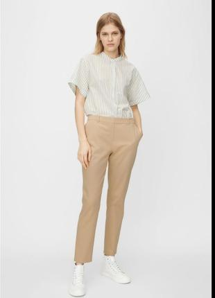 Базовые бежевые брюки чинос