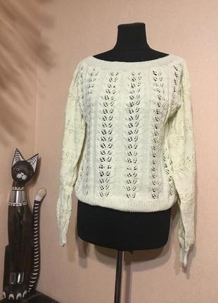 Нежный вязаный свитер кофта ручной работы hand made