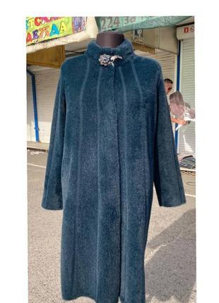 Шикарное пальто из альпаки турция батал люкс качество