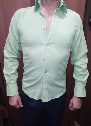 Рубашка молодёжная l,св.салатовая