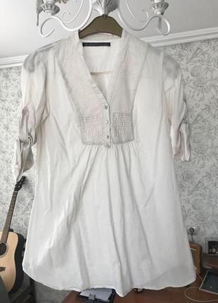 Легкая блуза рубашка zara