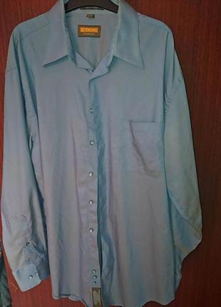 Рубашка мужская 54 серо-голубая с отливом