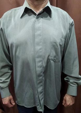 Рубашка мужская 56 серая с лёгким отливом