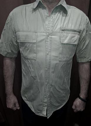 Рубашка-шведка мужская 52 бежевая бангладеш