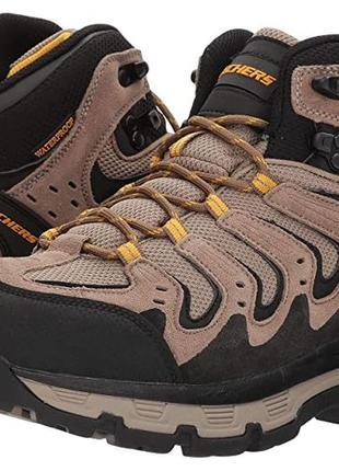 Водонепроницаемые, кожаные ботинки, высокие кроссовки skechers-оригинал