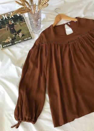 Красивая воздушная блуза, свободный фасон, вискоза