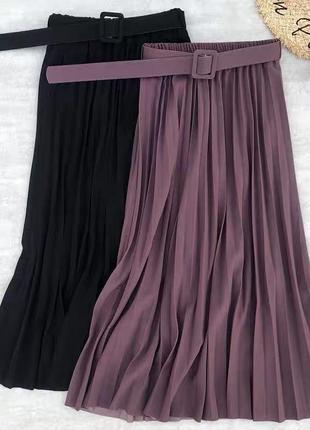 Юбка миди с поясом 😍5 фото