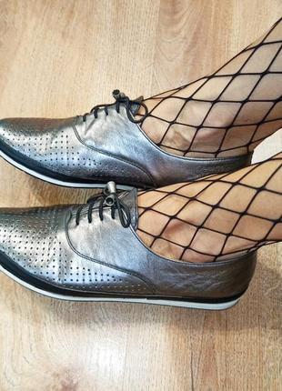 Туфли кеды кожа натуральная