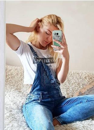 Шикарний джинсовий комбінезон re-dress
