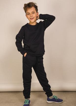 Детский трикотажный спортивный костюм с начесом