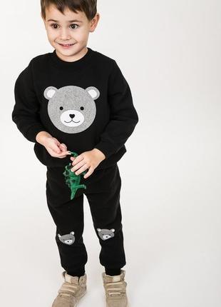 Детский утепленный трикотажный костюм