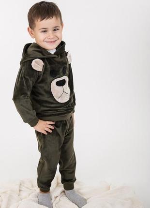 Детский велюровый костюм с медвежонком