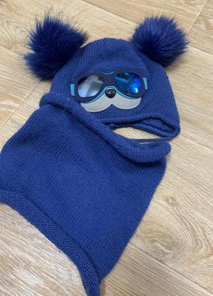 Зимняя тёплая  шапка и хомут