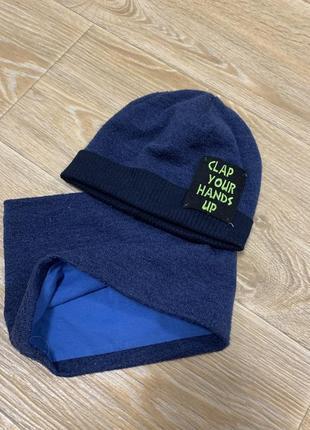 Демисезонная шапка и хомут