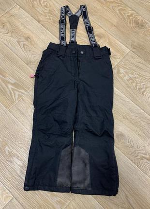 Зимние термо штаны на шлейках зимний комбинезон