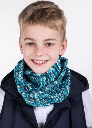 Детский шарф-хамут вязаный