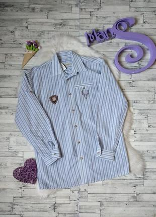 Рубашка landhaus c&a на мальчика голубая в полоску