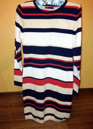 Трикотажное платье, очень приятное к телу