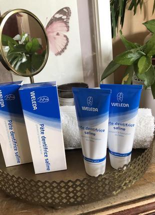 Weleda salt toothpaste 2x75 ml культовая  солевая натуральная зубная паста