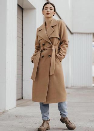 Базовое пальто миди кашемировое