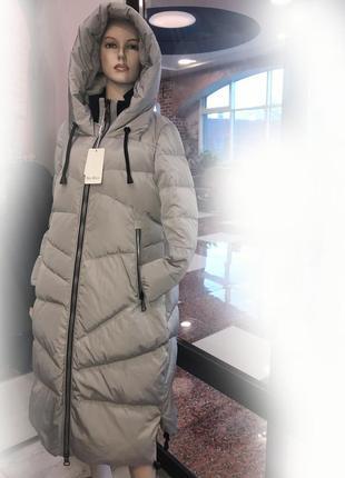 Женский зимний пуховик пальто max mara р. 48-50