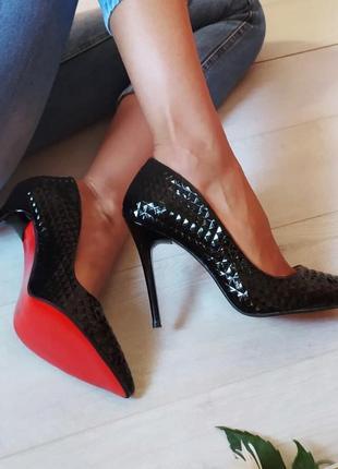Женские черны туфли-лодочки/черные лодочки/женские туфли лодочки/черные лодочки