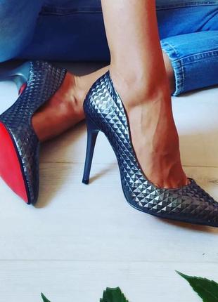 Женские серые туфли-лодочки/серые лодочки/женские туфли лодочки/графитовые лодочки