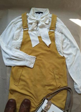 Горчичный сарафан new look жёлтый сарафан платье