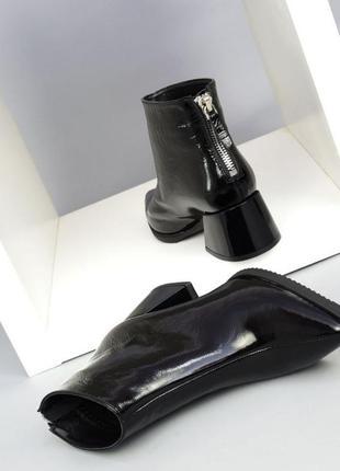 Элегантные ботинки, ботильоны с молнией сзади