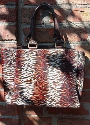 Меховая сумка кожаная оригинал zara
