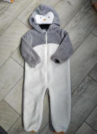 Комбінезон плюшевий h&m пінгвін